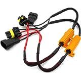 Alla Lighting 9005 9006 HB3 HB4 9012 LED Load Resistors Adapter 50W 6Ohm Error Free Fix Headlights/Fog Lights Flashing…