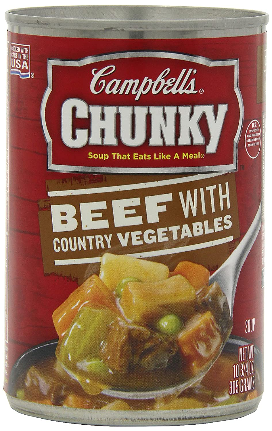 Campbells Chunky Beef with Country Vegetables Soup, 10.75 Ounce Cans (Pack of 12)