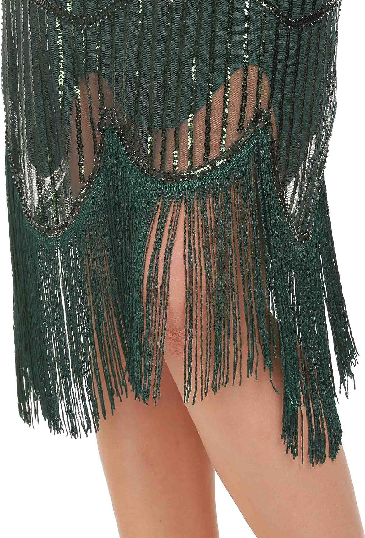 Fransen Great Gatsby Kleid GVOICE Damen 1920er Jahre Vintage Kleid