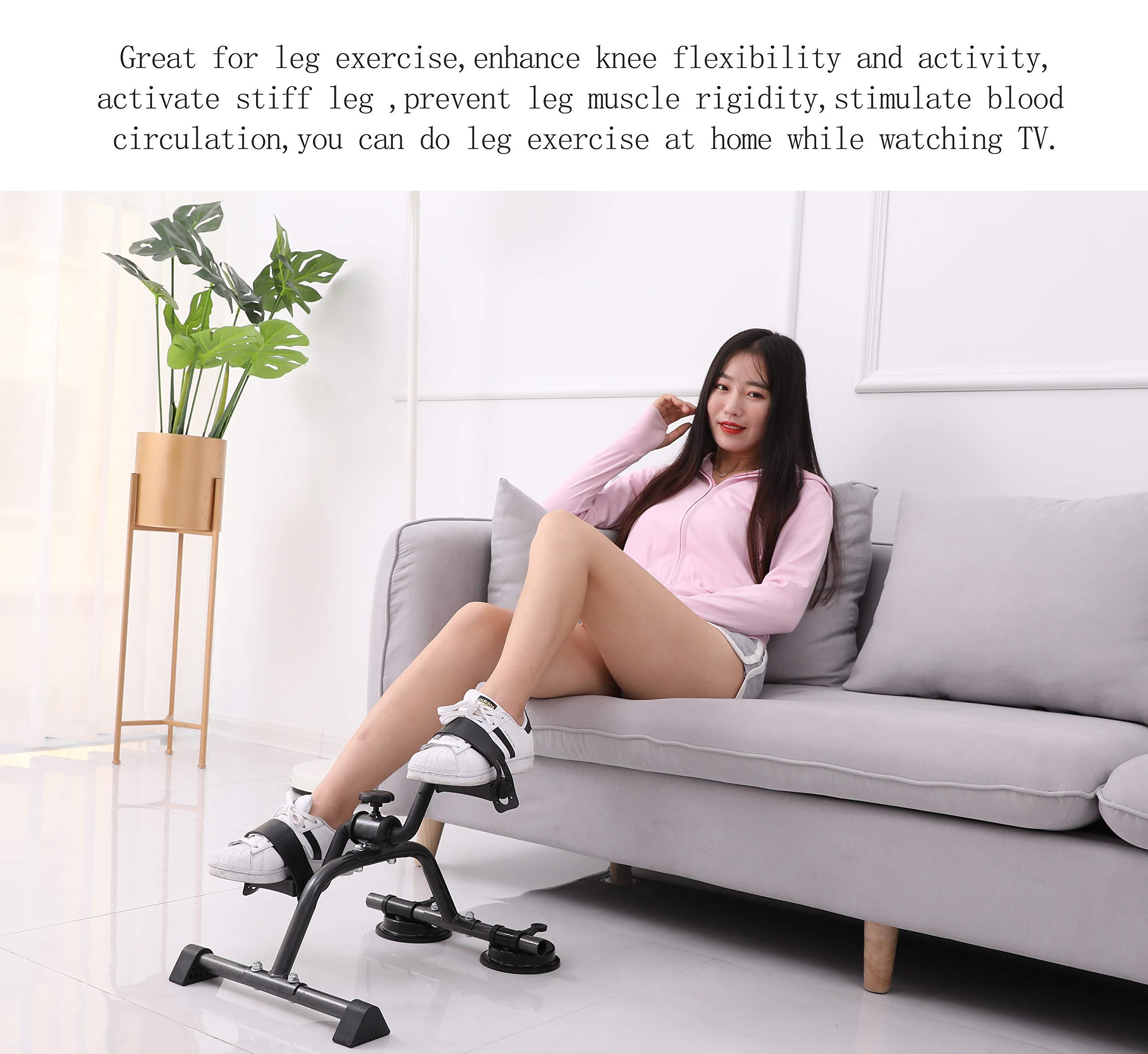MOMODA Pedal Exerciser mini Exercise Bike Foot Peddler for Leg and Arm Rehab Low Impact Under Desk