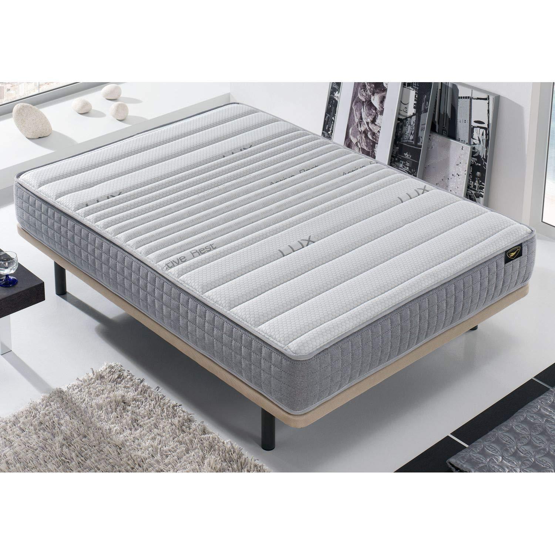 Mueble Canape con Base Tapizada + Colchon Visco 135x190 cms, Subida Domicilio ref-18 Color Blanco: Amazon.es: Hogar