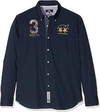 La Martina Man Shirt L/S Poplin Stretch Camisa para Hombre: Amazon.es: Ropa y accesorios