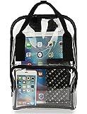 Clear Backpack PVC Transparent School Bookbag Work Bag