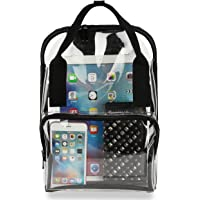 Clear Backpack PVC Transparent School Bookbag Work Bag