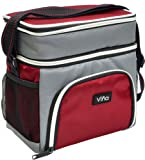 Amazon Price History for:Vina 600D Lunch Bag Cooler Tote - Thermal Insulated Double Compartment with Zipper Closure Adjustable Shoulder Strap - Grey/Red