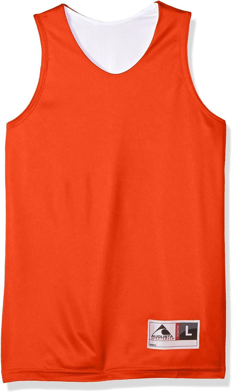 Augusta 149 Camiseta de Tirantes Reversible para niño, Niños, Tanque de absorción Reversible, 149, Naranja y Blanco, Large: Amazon.es: Deportes y aire libre