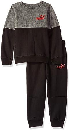 fa1ab8b4d0ac PUMA Little Boys' Pullover Fleece Set