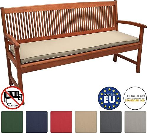 Beautissu Loft BK Cojines para Bancos de jardín colchoneta Asiento Bancos 180x48x5 Natural Acolchados Elegantes: Amazon.es: Hogar