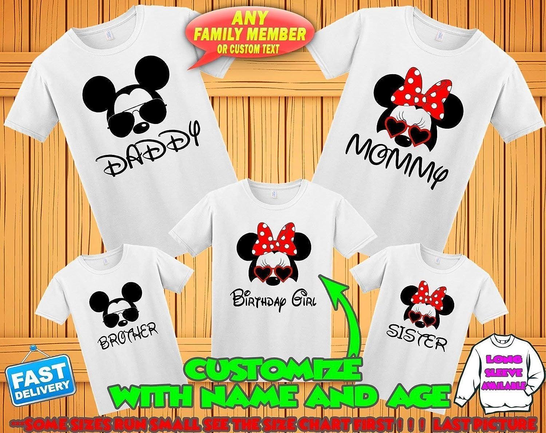 Amazon Disney Family Matching Custom T Shirts Family Vacation
