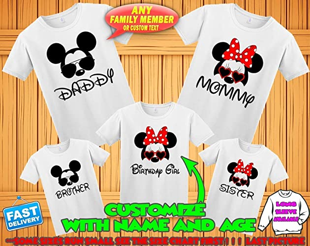 Amazon Disney Family Matching Custom T Shirts Vacation ShirtsMickey Minnie Mouse Personalized Shirt For