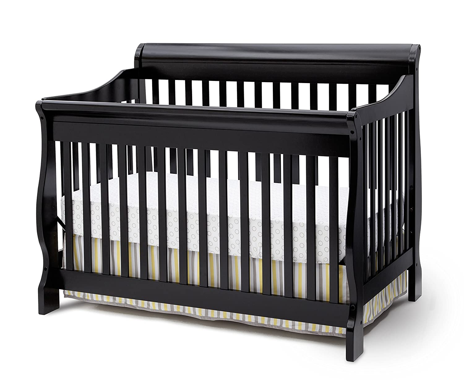 convertible baby cribs. Amazon.com : Delta Children Canton 4-in-1 Convertible Baby Crib, Black Sleigh Crib Combo Cribs A