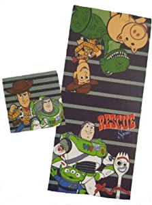 Jay Franco & Sons Toy Story 4 Two Piece Bath Towel and Washcloth Set