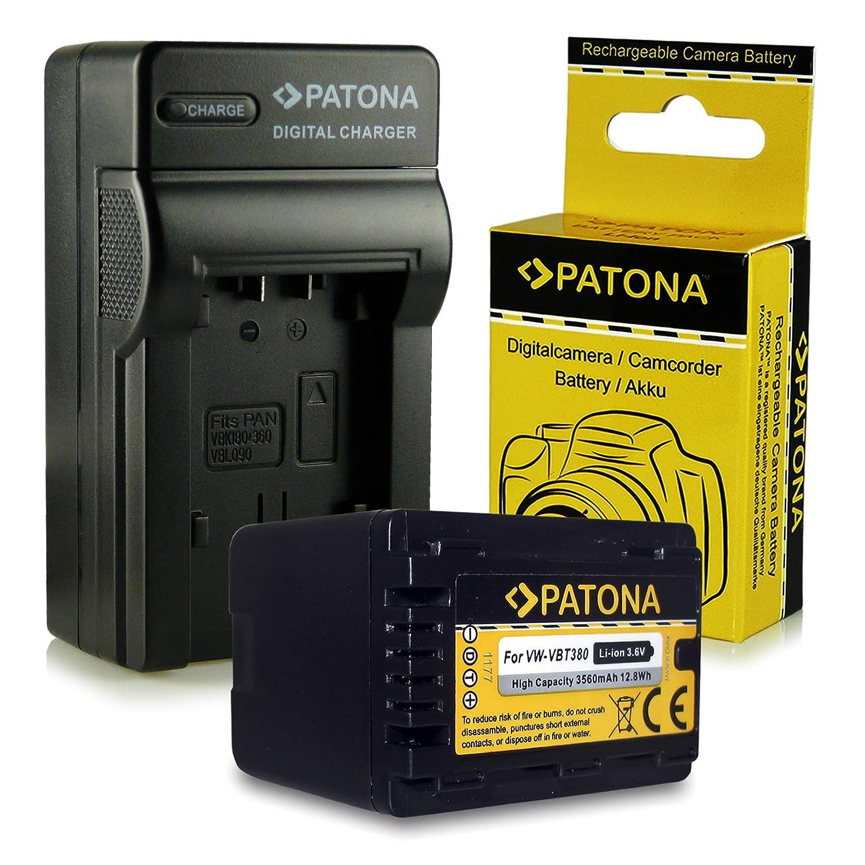 Batteria VBT380 per Panasonic HC V110 V727EB V250EB V120 V777 V720 V550 Caricabatteria VX870 V757 V550EB V160 V210 V727 VXF999 V520 V710 V380 VX989 V270 V510