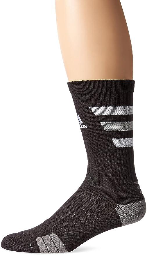 adidas Team Speed Traxion Crew - Calcetines - 5130134, negro, blanco, aluminio 2