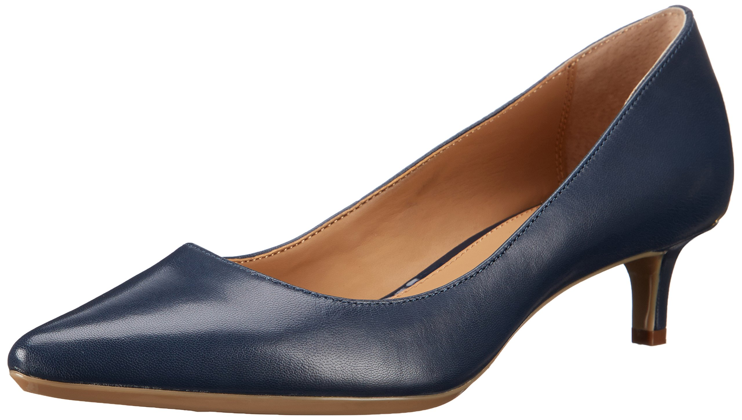Calvin Klein Women's GABRIANNA Shoe, Navy Leather, 9 Medium US