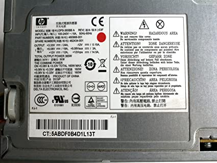 365W Hewlett-Packard HP 460968-001 462434-001 DC7900 CMT Power Supply Unit  PSU Compatible Part Numbers: 460968-001, DPS-365BB A, PC6015, 437358-001,