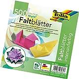 Folia 8957–Faltblätter Midi 70g/m², 7,5x 7,5cm, 500feuilles, 55en 10couleurs