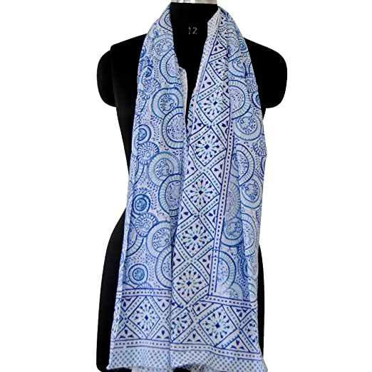 5c4f5ea24cffc Image Unavailable. Image not available for. Color: Indian Cotton Fashion Scarves  Beach Sarong Bikini Cover up Neck Wrap's Beach Cover ups Block Print