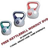 Kettlebells Vinyl Kettlebell Sets Kettle bells Includes Kettlebell Workout DVD