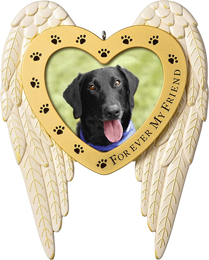 Pet memorial ornamentno longer by our side but forever in our heartsChristmas
