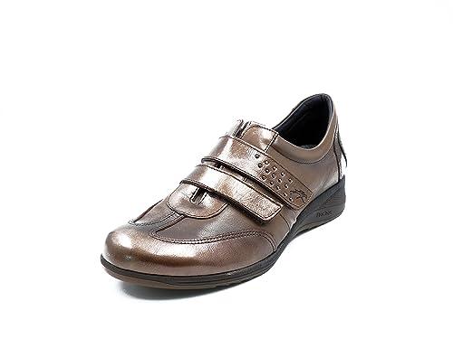 7dafcd66 Zapato Marmota Fluchos Piel Velcros De Color Mujer Cierre Femme rtwxAYrf
