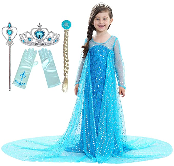 Amazon.com: Riekinc Disfraz de princesa para niñas: Clothing