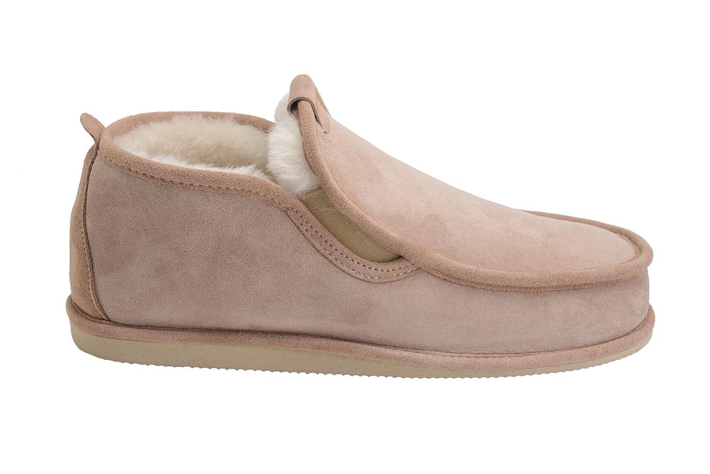Vogar Hommes Luxe Peau de Mouton Pantoufles Chaussons Chaussures avec Doublure Chaud Laine W75