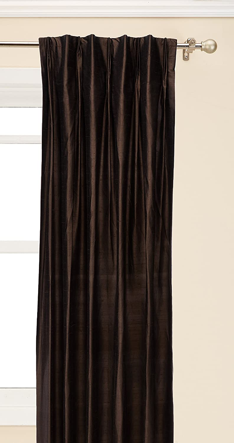 Brielle 100/% Dupioni Real Silk Lined 33 by 84 Natural 33 by 84 807000134359 Room Darkening Insulated Energy Saving and Pinch Pleat Finish Rod Loop Back Tab Panel