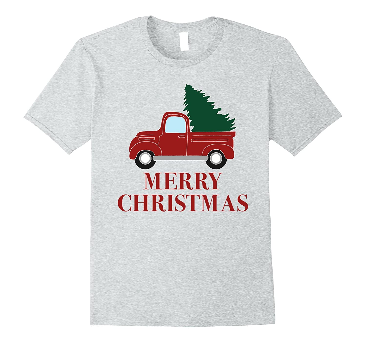 Vintage Red Truck with Christmas Tree T-Shirt-ANZ