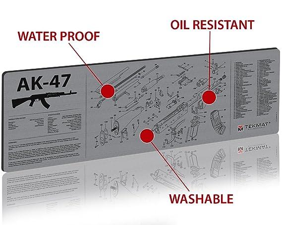 Amazon Tekmat 36 Ak47 Gy Ak 47 Grey Rifle Mat Sports Outdoors