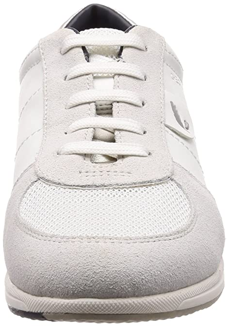 Schuhe Geox Respira Avery Schnürschuhe Damen in weiß grau Echtleder