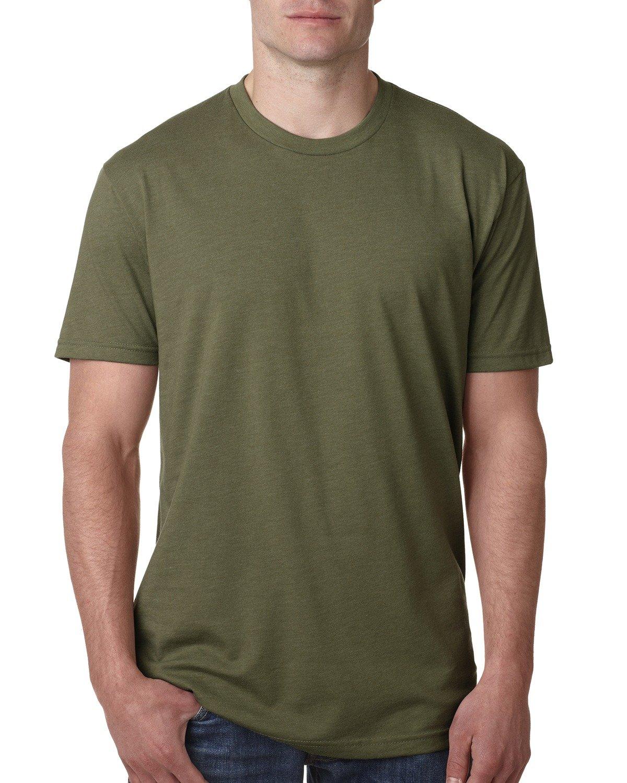Next Level Apparel メンズ CVC クルーネック ジャージ Tシャツ B014WDFECE 3L ミリタリーグリーン ミリタリーグリーン 3L