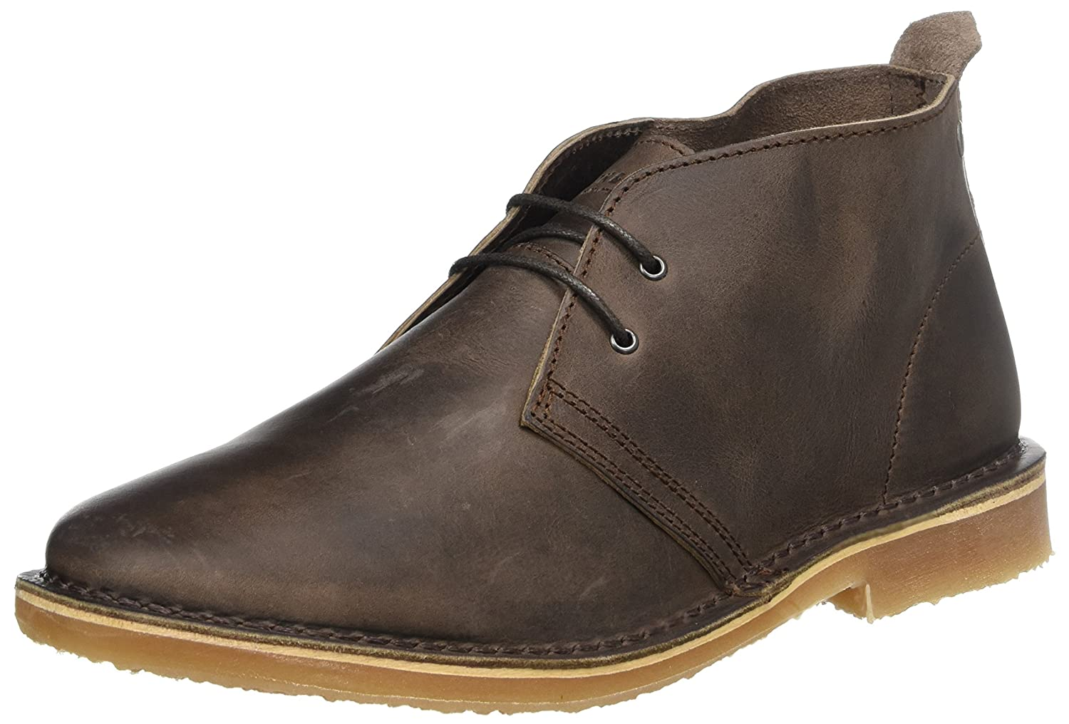TALLA 40 EU. Jack & Jones Jfwgobi Leather Chocolate Brown, Botas Desert para Hombre