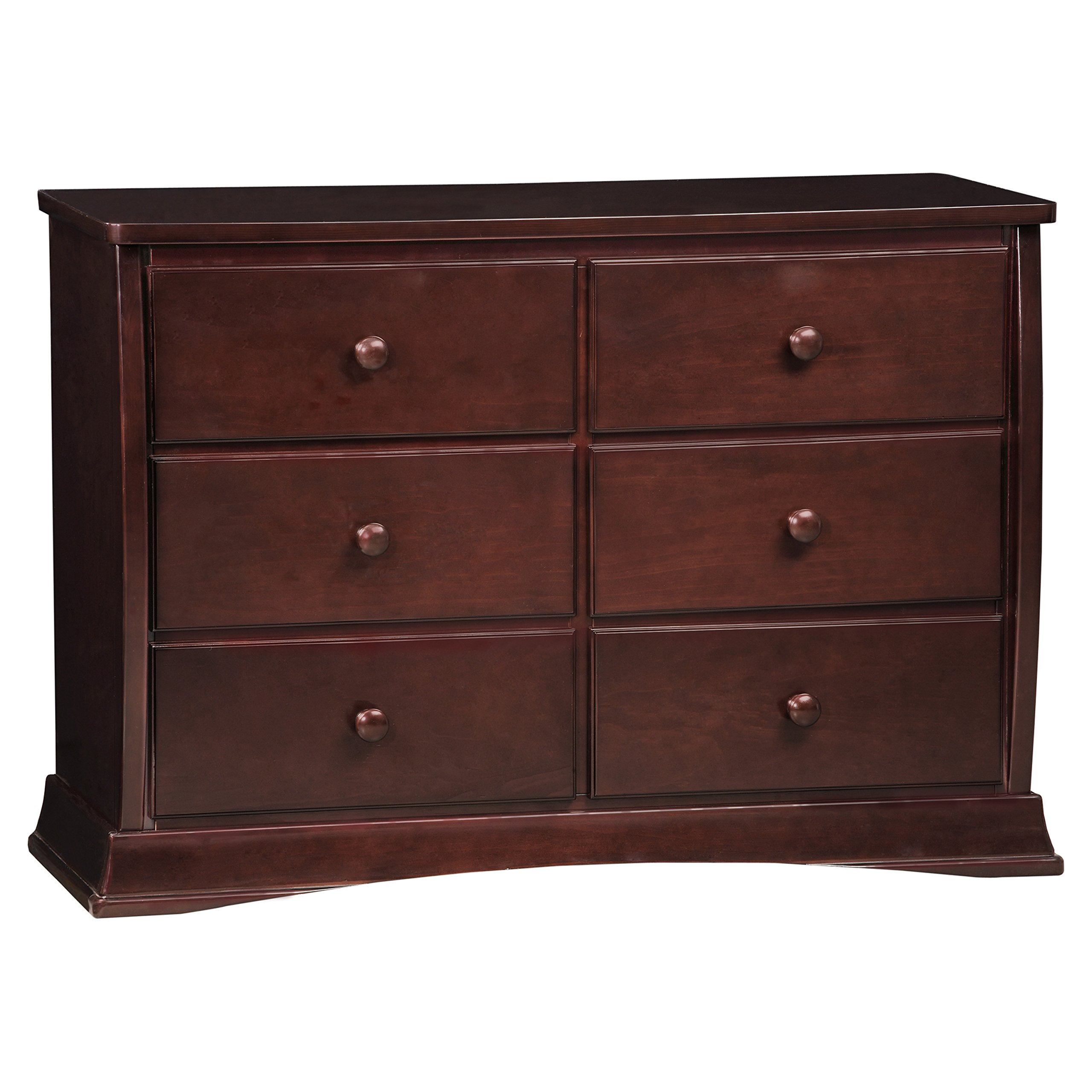 Delta Children Bentley Six Drawer Dresser, Black Cherry Espresso