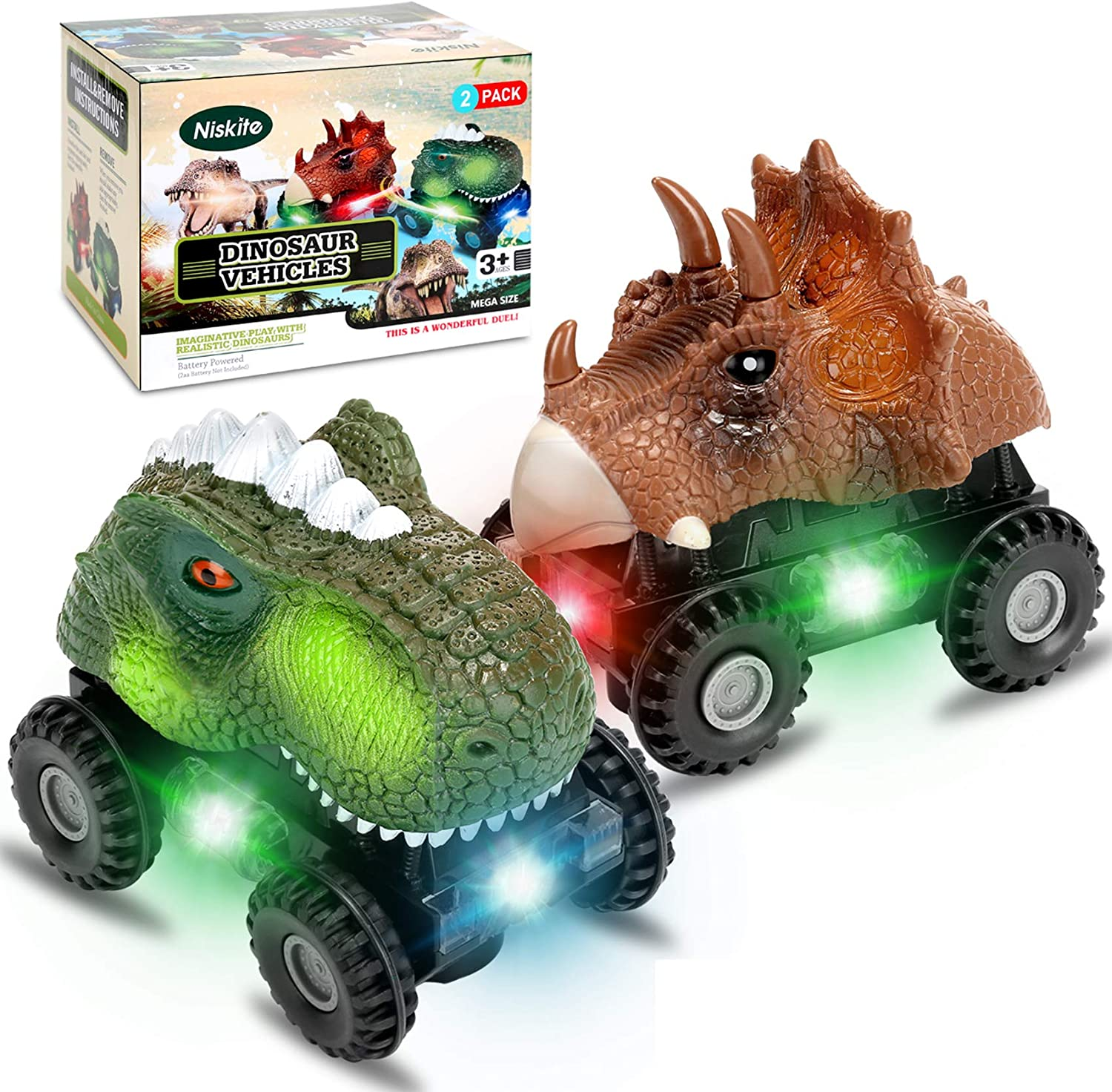 Amazon Com Dinosaur Toys For 2 3 4 Year Olds Boys Niskite Dinosaur Car For Kids Toddler Gifts For 5 8 Year Old Boy Most Popular Birthday Presents For Girl Age 6 7 2 Pack Toys Games