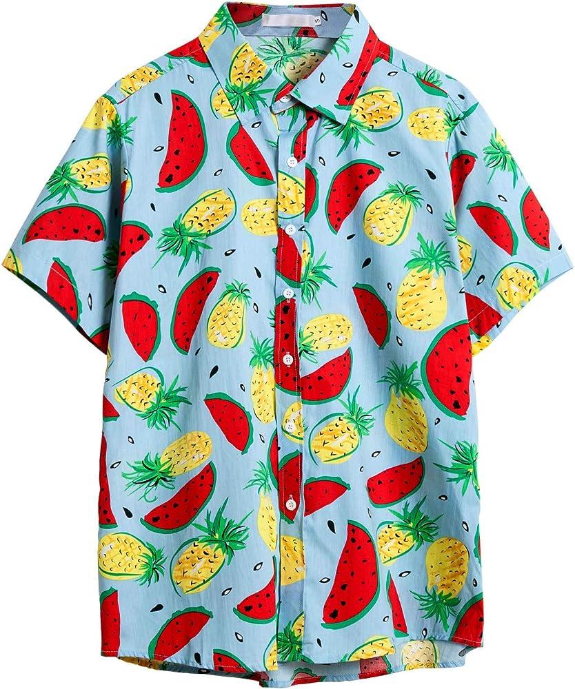 Sylar Camisas Hombre Manga Corta Camisetas Hombre Originales Camisa Hawaiana Hombre Camiseta Fruta Floral Estampado Formales Tops Verano Playa Funny Hawaii Shirt: Amazon.es: Ropa y accesorios