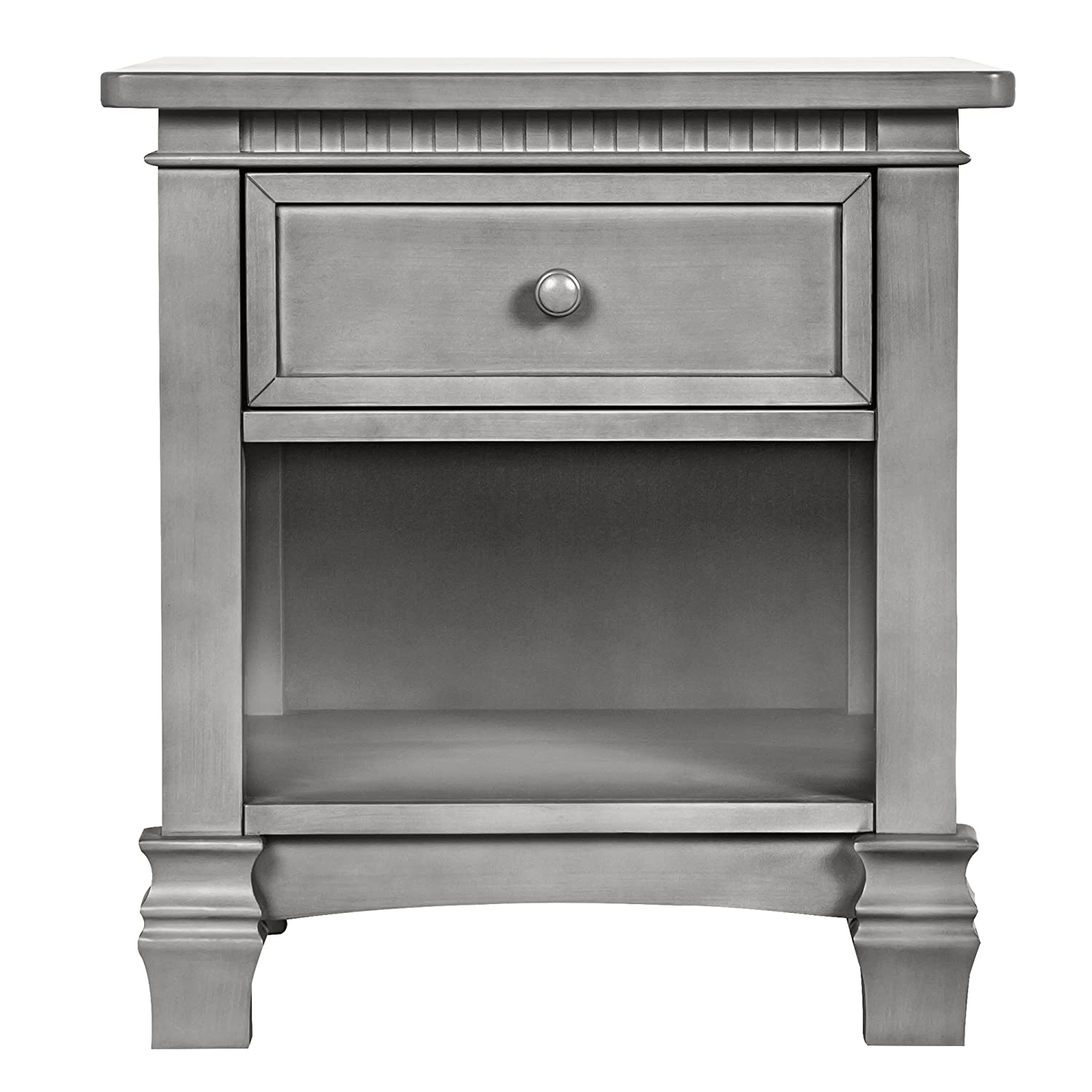 Evolur Santa Fe Night Stand, Storm Grey