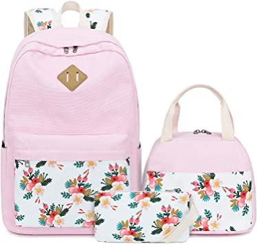 Shoulder bag ... Bookbags BLUBOON Teens Canvas Backpack Girls School Bags Set