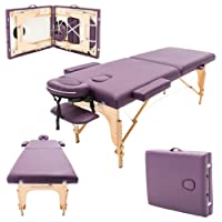 Massage Imperial® Charbury - Table de massage Portable pro luxe - 2 Zones - Panneaux Reiki - Légère - Couleur : Violet