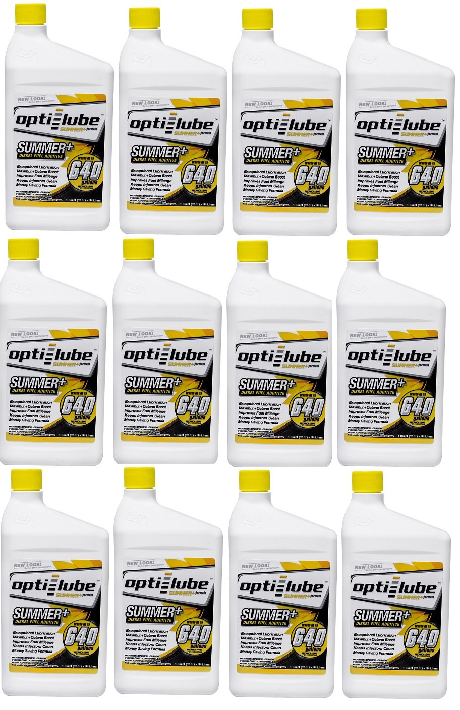 Opti-Lube Summer+ Formula Diesel Fuel Additive: Quart, Case of 12 Treats up to 640 Gallons per Quart