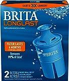 Brita Longlast Replacement Filters, 2ct, Dark Blue