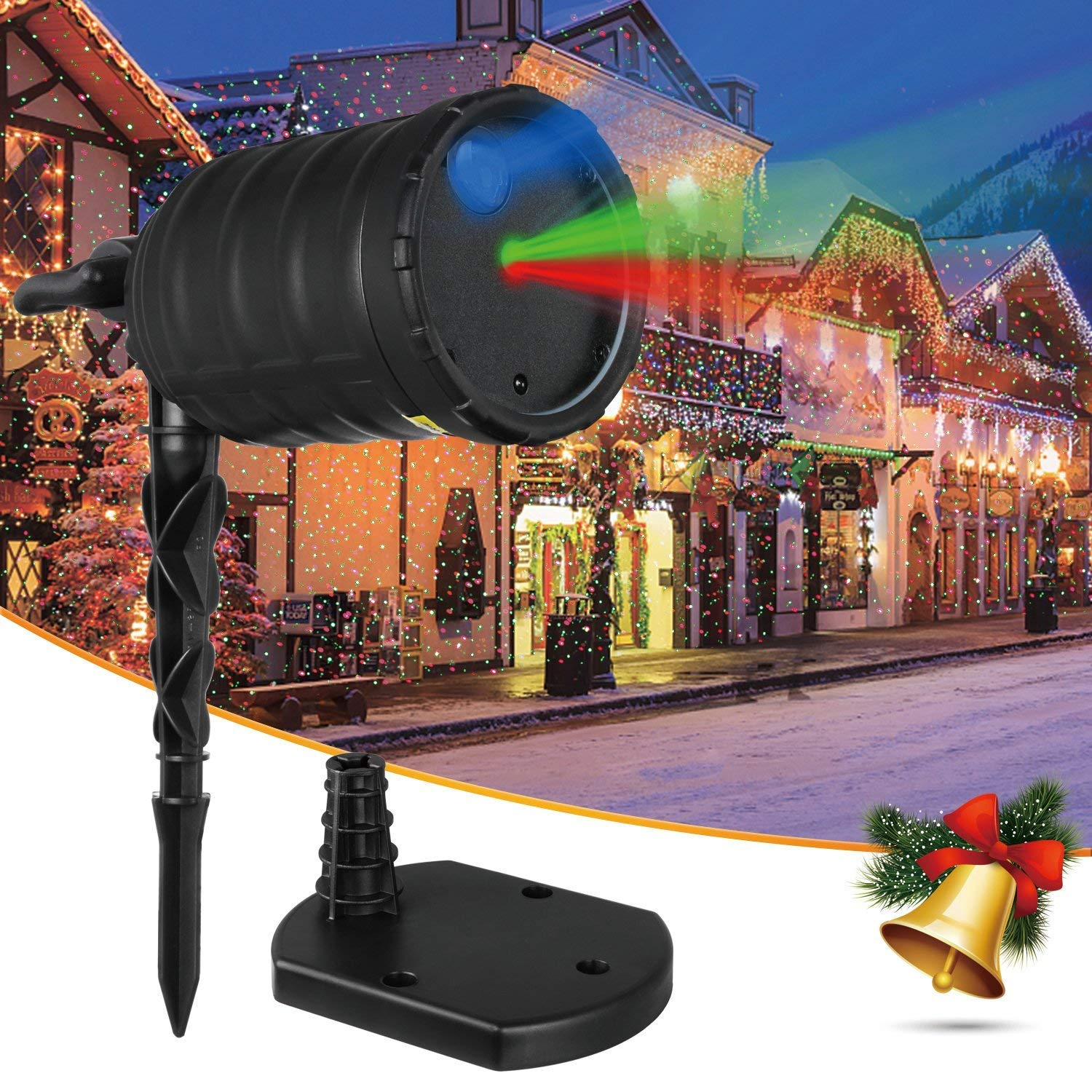 IMAXPLUS Christmas Outdoor Laser Light Projector with RGB Moving Stars Laser Show for Christmas, Holiday, Party, Landscape, and Garden Decoration AUTO-VOX