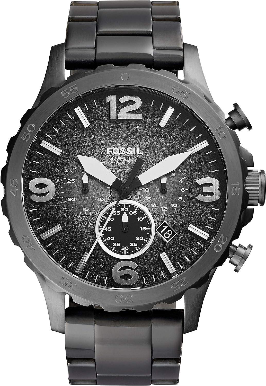 Fossil Reloj Cronógrafo para Hombre de Cuarzo con Correa en Acero Inoxidable