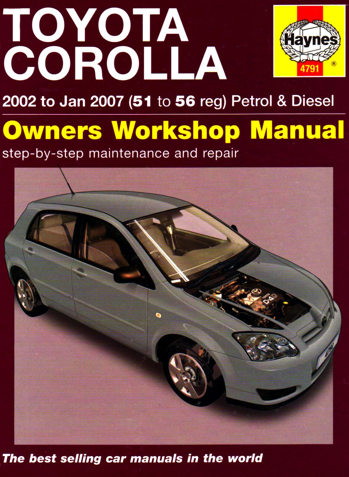 toyota corolla petrol diesel 02 jan 07 haynes repair manual rh amazon co uk 2000 Toyota Corolla Engine Problems 2000 Toyota Corolla Dashboard