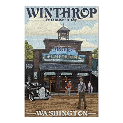 Winthrop, Washington Town View (Premium 500 Piece Jigsaw Puzzle for Adults, 13x19, Made in USA!): Toys & Games