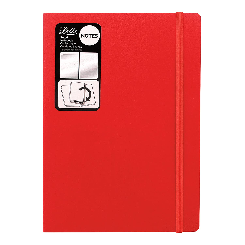 Letts Noteletts Edge Notebook, Medium, Purple Blueline LEN6ERPE