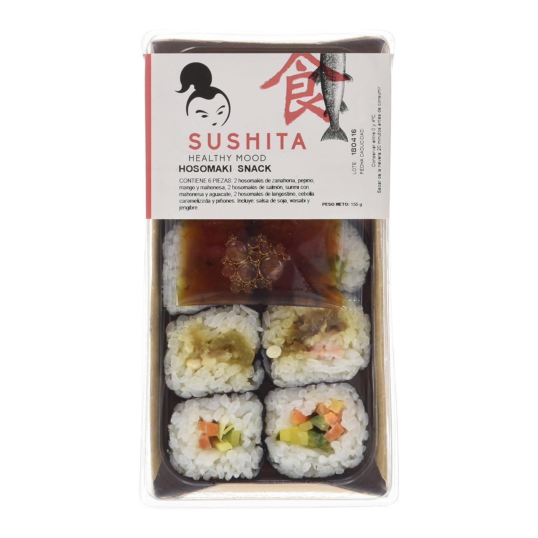 Sushita Hosomaki Snack - Plato de pescado y marisco, 155 g: Amazon ...