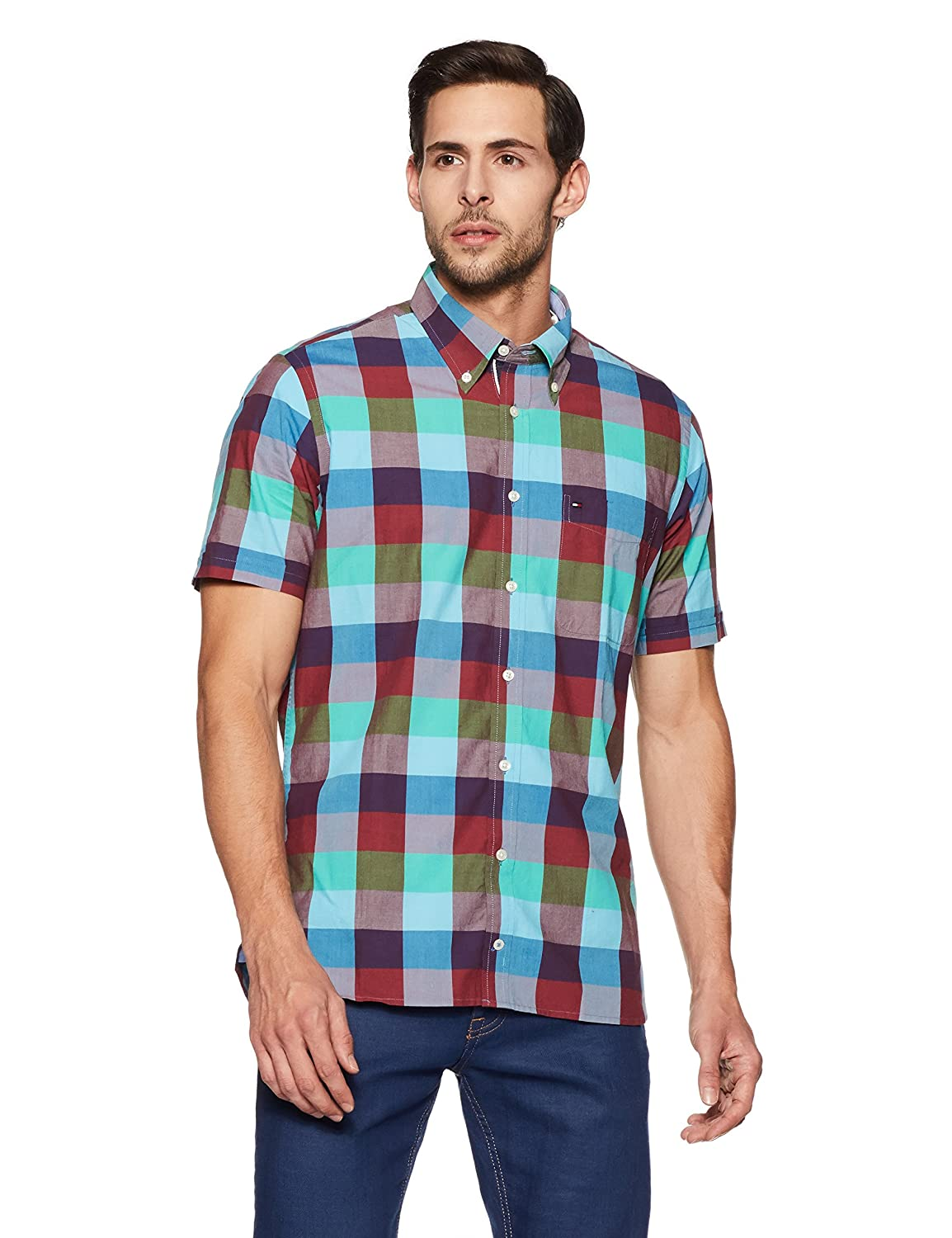 ce815ce1 Tommy Hilfiger Men's Casual Shirt: Amazon.in: Clothing & Accessories