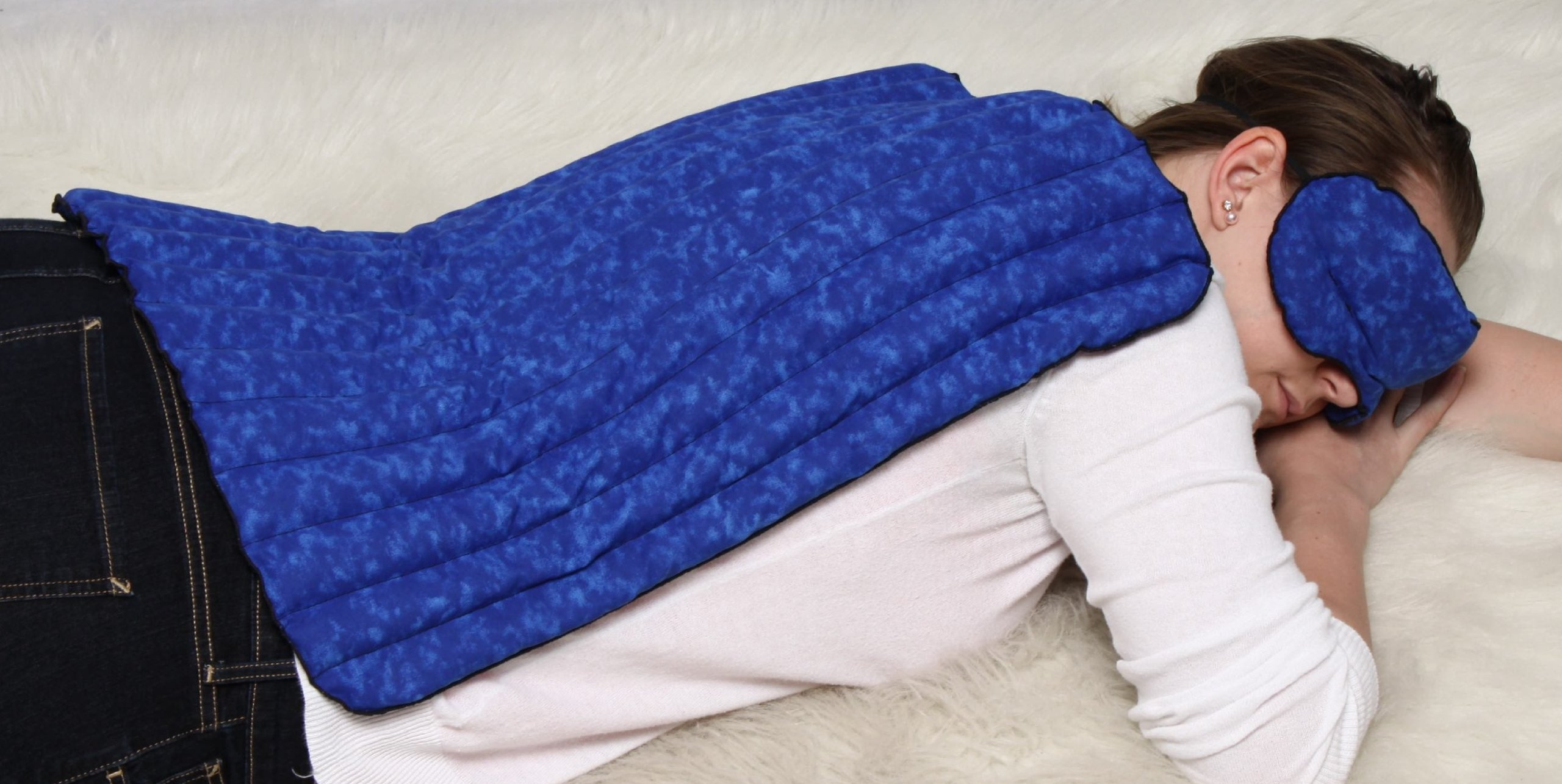 Blue Hot/cold Extra Large Non-Scented Kozy Microwavable Heating Pad