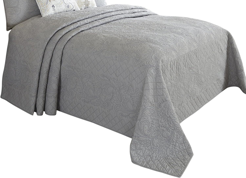Nostalgia Home Valinda Bedspread, Full, Grey